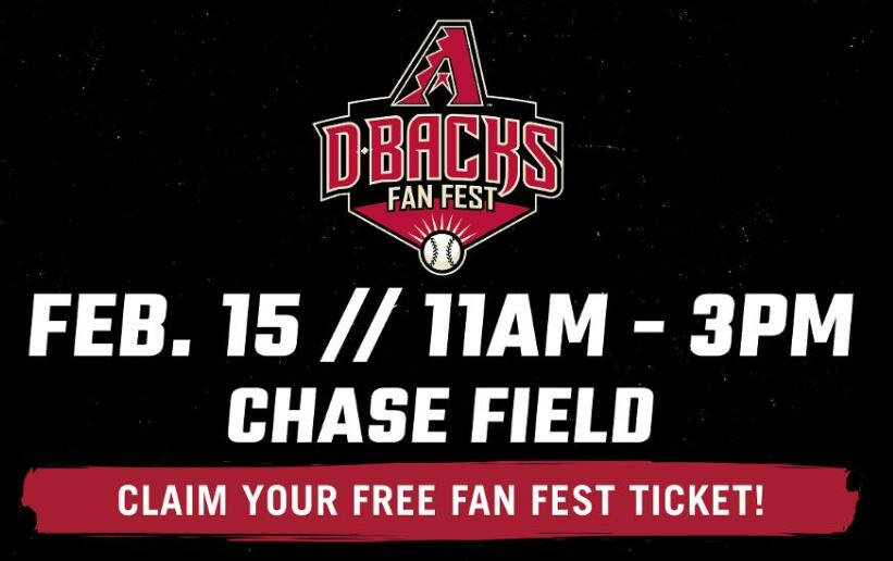 Dbacks To Host Fan Fest This Saturday At Chase Field | 104.7 KISS FM