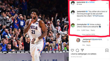 image for Jimmy Butler Maybe Kinda Recruits Joel Embiid to Miami After IG Post