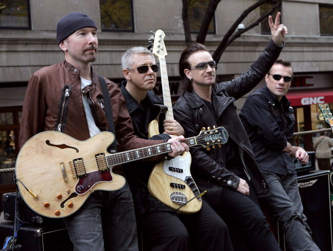 "U2 Spends the Day on the Streets of New York City Shooting a Video for their New Album ""How to Dismantle an Atomic Bomb"" - November 22, 2004"
