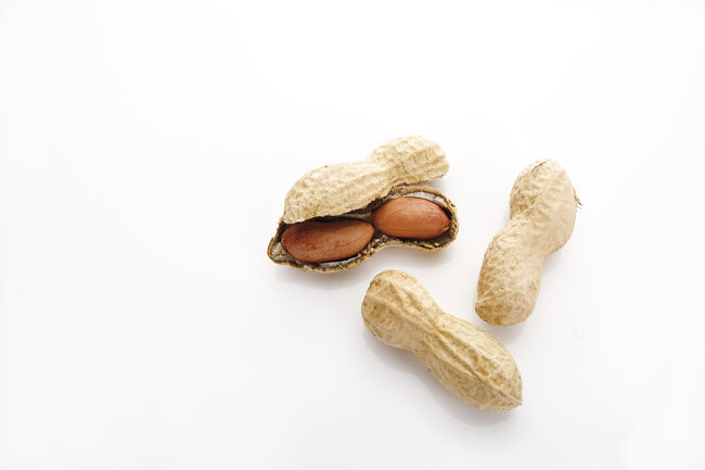Peanuts, elevated view
