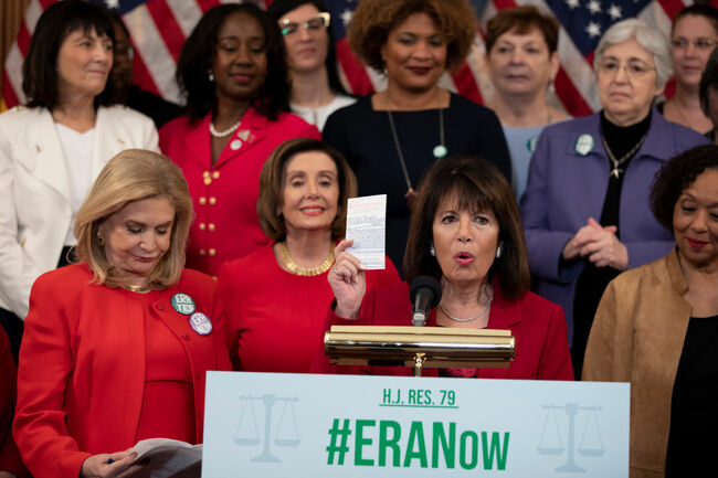 Speaker Pelosi And Women's Caucus Speak To Media On Equal Rights Amendment