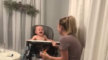 image for Baby Laughing Hysterically At Mom's Fake Sneezes