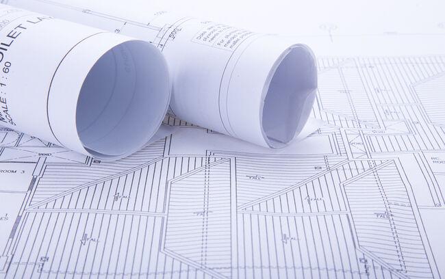 Full Frame Shot Of Blueprints