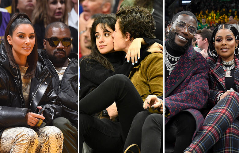15 Celebrity Couples Getting Close on the Court | Johnjay and Rich