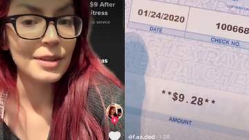 image for Bartender Posted Her Paycheck Showing She Only Made $9 For 70 Hours Of Work