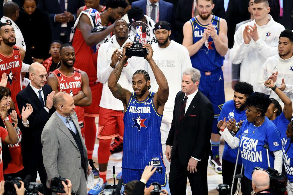 Kawhi Leonard Wins NBA All-Star Kobe Bryant MVP Award   NewsRadio KFBK