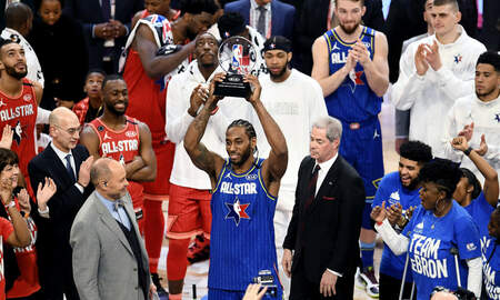 image for Kawhi Leonard Wins NBA All-Star Kobe Bryant MVP Award