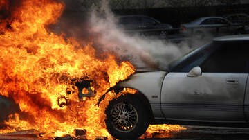 image for Man Rescued From a Burning Pickup As 20 People Stand Around Filming It