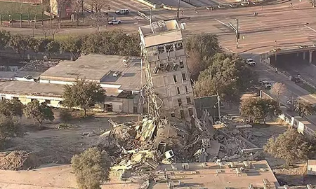 image for 'Leaning Tower of Dallas' Created After Failed High Rise Demolition