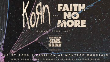 image for Korn + Faith No More at Pavilion at Montage Mountain!