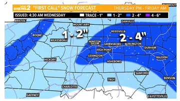 image for Snow likely in Triad on Thursday - What to Expect