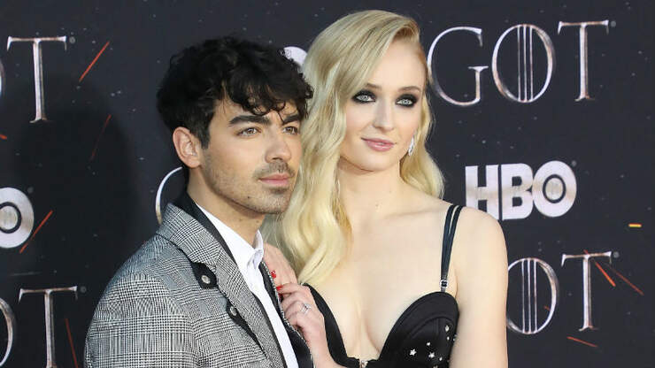 Sophie Turner Cradles Growing Baby Bump During Walk With Joe Jonas