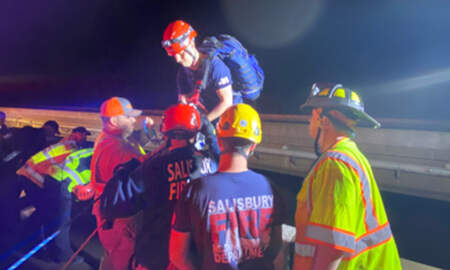 image for Man Survives 75-Foot Fall Off Highway Bridge While Helping Motorist