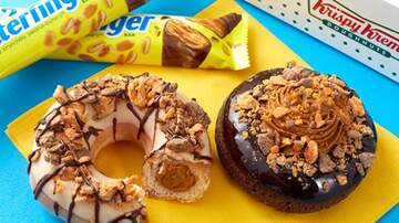 image for Krispy Kreme Making Butterfinger Donuts & It's Packed With Peanut Butter
