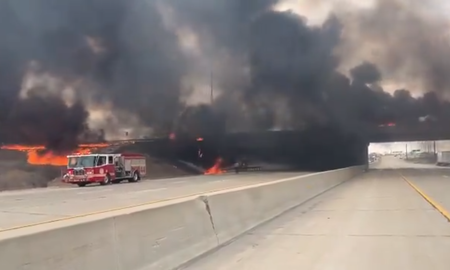 image for Fuel Tanker Explosion in Indiana Causes 'Catastrophic' Damage to Interstate