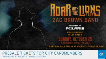 image for Zac Brown Band Roar With The Lions Tour!