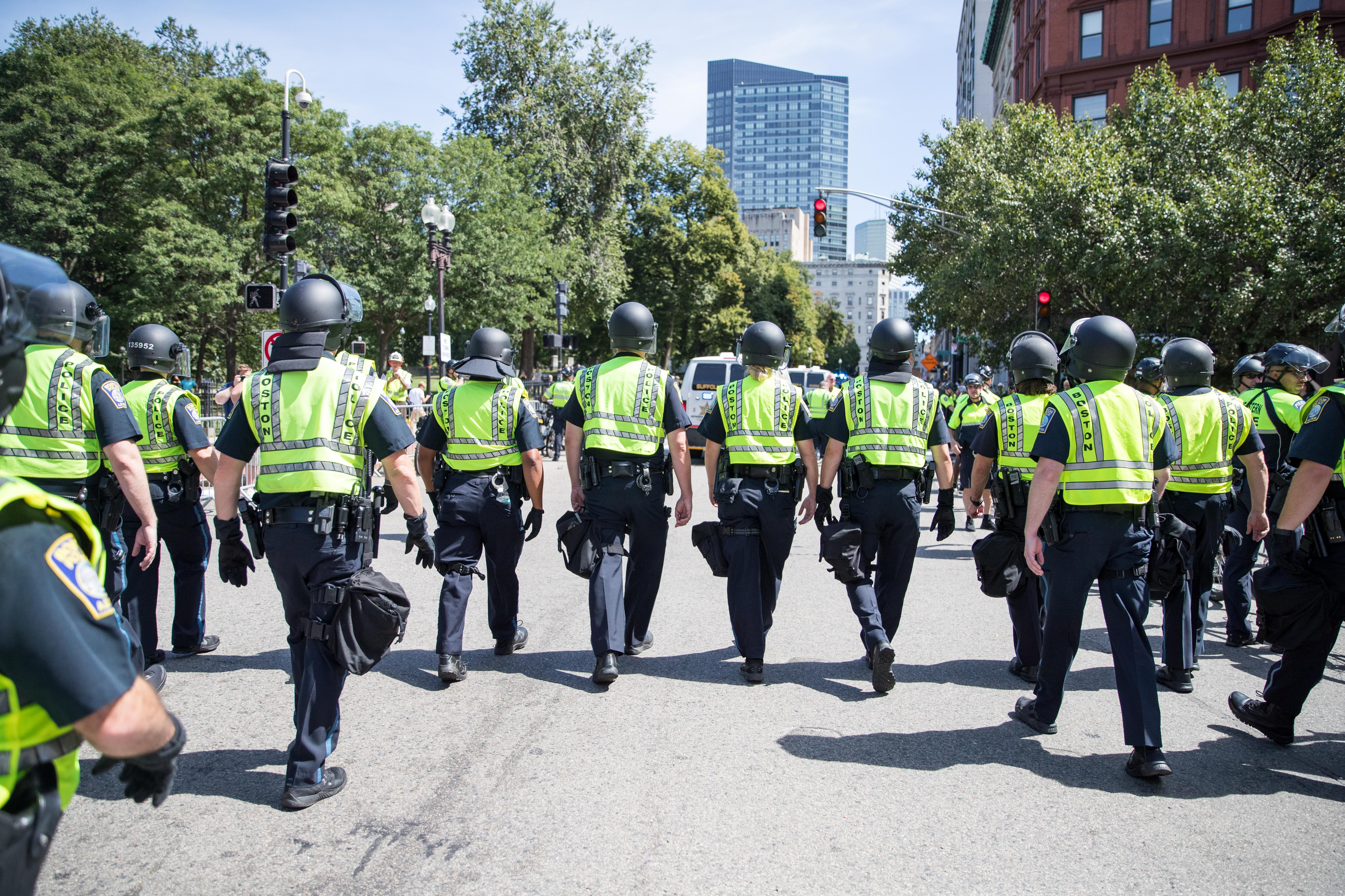 Pro-Law Enforcement Rally Outside Boston Police HQ Gets Heated | WBZ NewsRadio 1030