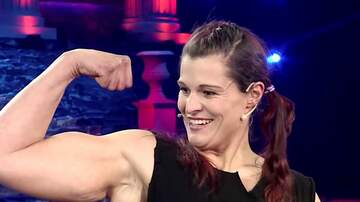 image for  Strongwoman Rolls Seven Frying Pans Like Burritos For World Record
