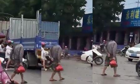 image for Headless Man Filmed Walking Across Street