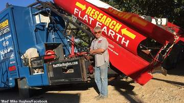 image for Daredevil Flat Earther 'Mad' Mike Hughes Dies in Homemade Rocket Crash