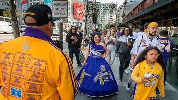 image for Woman Honors Kobe & Gianna Bryant With Quinceañera Dress At Staples Center