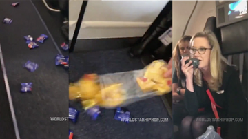 image for Flight Attendant Filmed Giving Out Snacks By Throwing Them Down The Aisle