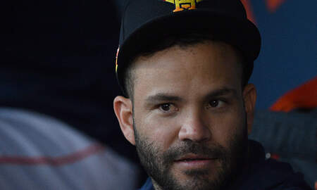 image for Jose Altuve Gets Hit By Pitch In His First Spring Training Game