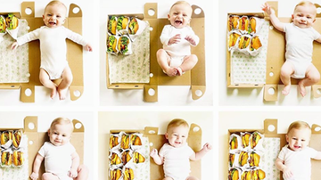 image for Mom Used Shake Shack Burgers For Her Baby's Monthly Photos & It's So Cute