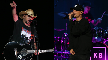 image for Kane Brown Surprises Fans, Joins Jason Aldean To Perform 'Dirt Road Anthem'