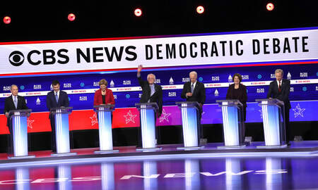 image for Democrats Clash in Debate in South Carolina