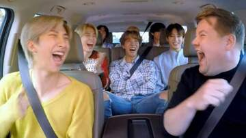 image for All 7 Members Of BTS Pile In Minivan For Carpool Karaoke With James Corden