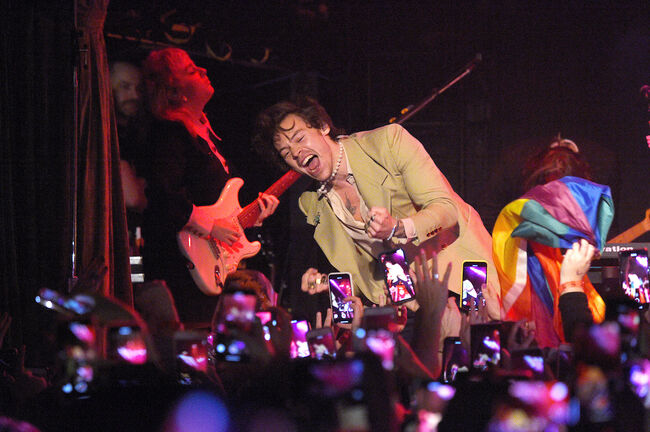 iHeartRadio Secret Session With Harry Styles At The Bowery Ballroom On February 29, 2020