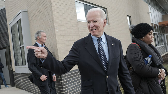 Joe Biden Holds Campaign Event In Ohio