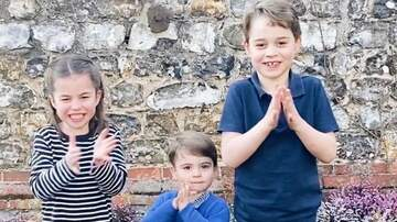 image for Watch George, Charlotte & Louis Adorably Applaud Health Care Workers