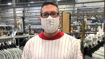 image for MLB Uniform Maker Switches to Producing Masks, Gowns