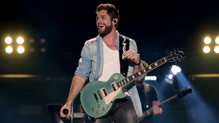 Thomas Rhett Take A Tumble While Attempting To Swing On Tree Branch