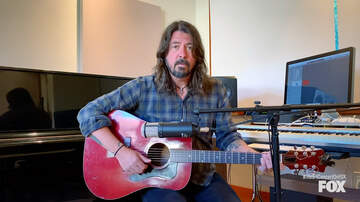 image for Dave Grohl Sings Acoustic 'My Hero' During Special Living Room Concert