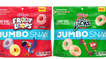 image for Kellogg's Drops XL Versions Of Froot Loops & Apple Jacks Called Jumbo Snax