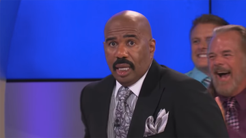 image for Steve Harvey Left Stunned In This Easter Bunny Clip From 'Family Feud'