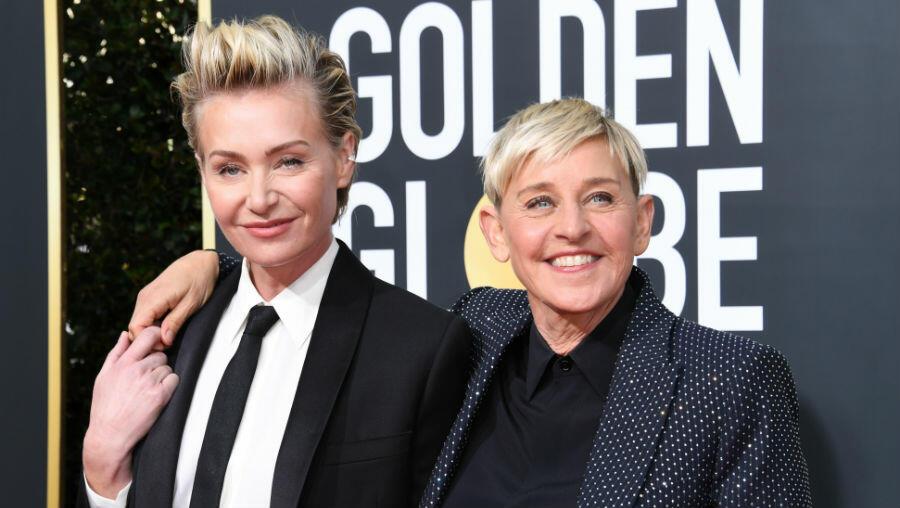 Ellen DeGeneres On Portia de Rossi's Cooking: She's Good At Slicing Fingers   iHeartRadio