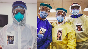 image for Medical Workers Post Photos Of Themselves On Their PPE To Reassure Patients