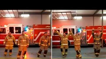 image for Firefighters Celebrate Nurses With Choreographed Dance