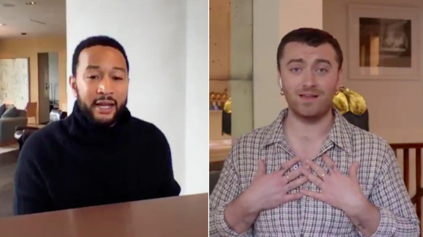 John Legend & Sam Smith Cover 'Stand By Me' During 'One World ...