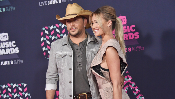 Jason Aldean Ditched His Cowboy Hat For Some Cute Photos With His Wife