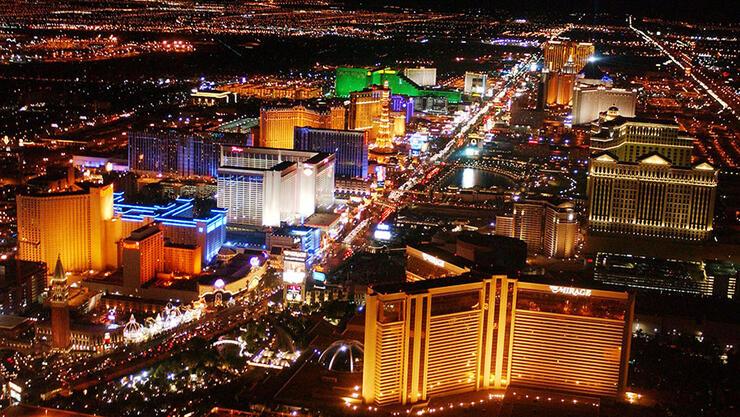 Las Vegas Boulevard Aerial Views