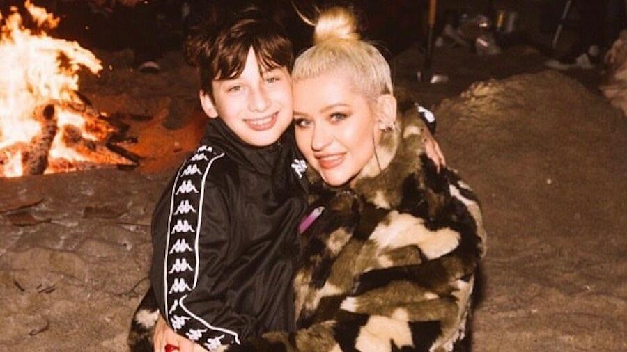 Christina Aguilera Celebrates 12-Year-Old Son Max's Graduation