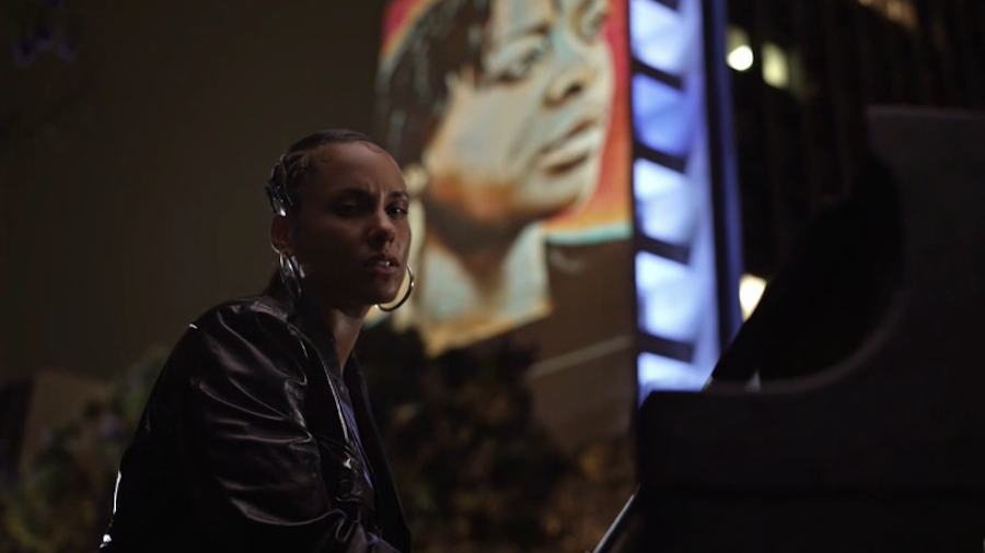 Alicia Keys Hits The Streets To Perform 'Perfect Way To Die' At BET Awards