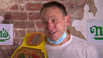 image for Joey Chestnut Breaks His Own Record At The Nathan's Hot Dog Eating Contest