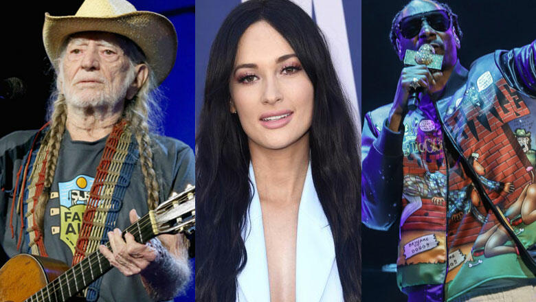 Smoking Buddies: Willie Nelson, Snoop Dogg, + Kacey Musgraves