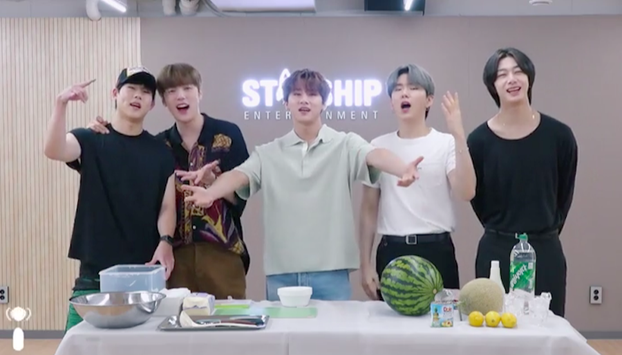 MONSTA X Shows Fans How to Make Korean Watermelon Punch